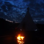 night time tipis